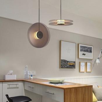 Modern LED Glass Round Pendant Lights Lighting Nordic Creative Cafe Indoor Living Room Lamp Bedroom Bedside Decor Light Fixtures modern plant pendant light wood glass bottle decor restaurant bar cafe living room study lighting led pendant hang lamp