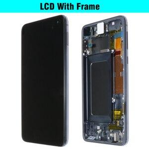 Image 4 - 100% Original AMOLED ที่มีกรอบสำหรับ SAMSUNG Galaxy S10E G970F/DS G970U G970W SM G9700 จอแสดงผล Touch Digitizer