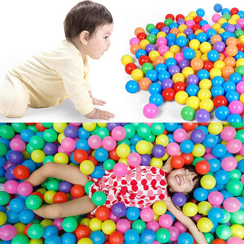 1 PC 7 centimetri Da Bagno Divertimento Colorato In Plastica Morbida Ocean Sfera Sicuro Del Bambino Kid Pit Giocattolo 72XC