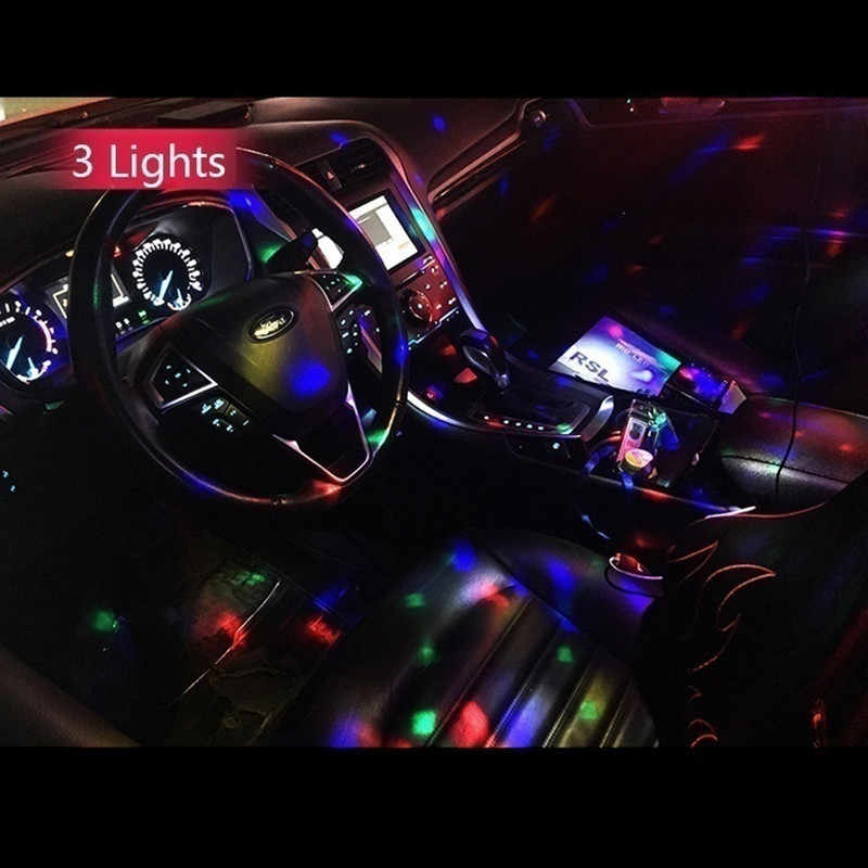 2019 nouveau Multi couleur USB LED voiture éclairage intérieur Kit atmosphère lumière néon coloré lampes intéressant Portable accessoires