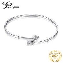 JPalace Couronne Cupidon Flèche Manchette 925 Bracelets en Argent Sterling Bracelet bracelets pour femme Argent 925 Fabrication de bijoux Organisateur
