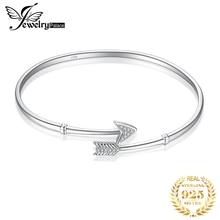 JewelryPalace 925 plata esterlina Cupido de la flecha Cubic Zirconia pulsera ajustable 2018 Venta caliente joyería Personal