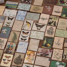 William Morris Mini Memo Karten Retro Collage Material Papier Junk Journal Planer Scrapbooking Vintage Dekorative DIY Handwerk Papier