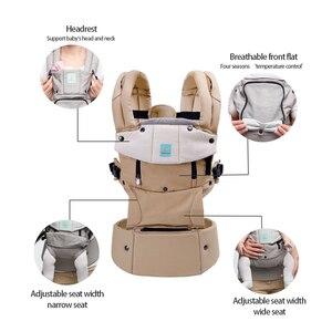 Image 3 - Bolsa canguru para bebê, bolsa ergonômica para bebê recém nascido a 36 meses de estação completa de algodão