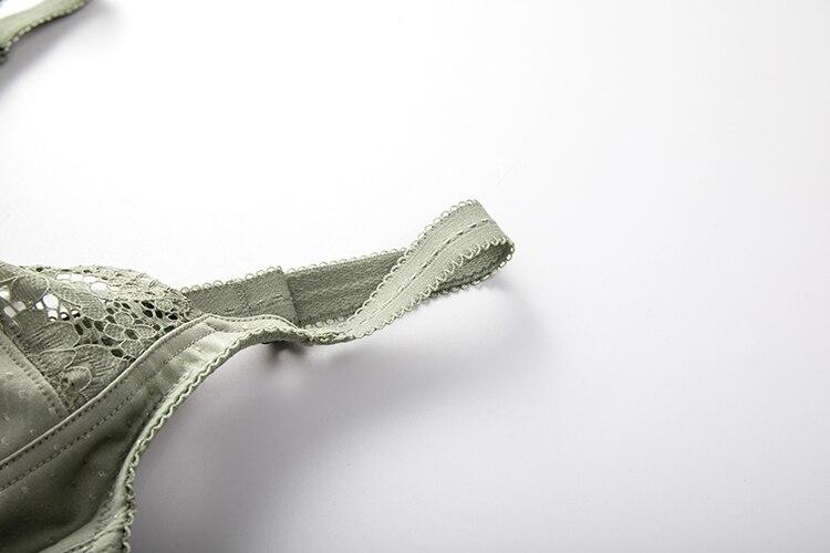 Женские кружевные беспроводные хлопковые бюстгальтеры с полным покрытием 36-48 C D DD E F G