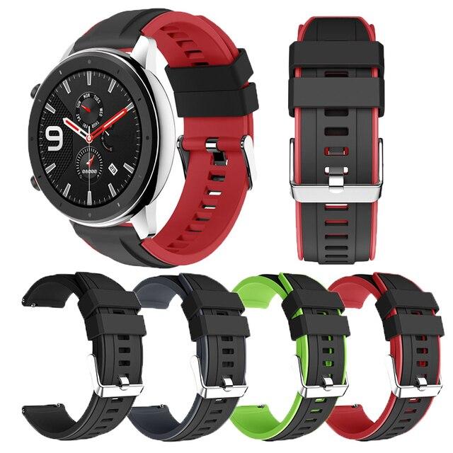 Dla Huami Amazfit GTR 47MM silikonowy zegarek zespół mężczyźni kobiety Sport inteligentny zegarek pasek do Samsung galaxy zegarek 3 45mm gt gt2 46mm