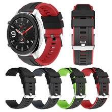 עבור Huami Amazfit GTR 47MM שעון סיליקון בנד גברים נשים ספורט חכם שעון רצועת לסמסונג גלקסי שעון 3 45mm gt gt2 46mm