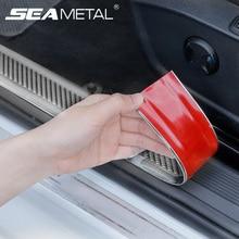 Car Sticker Auto Door Sill Protector Sticker Car Styling Auto Goods Bumper Anti-Collision Strip Carbon Fiber Vinyl Protect Strip