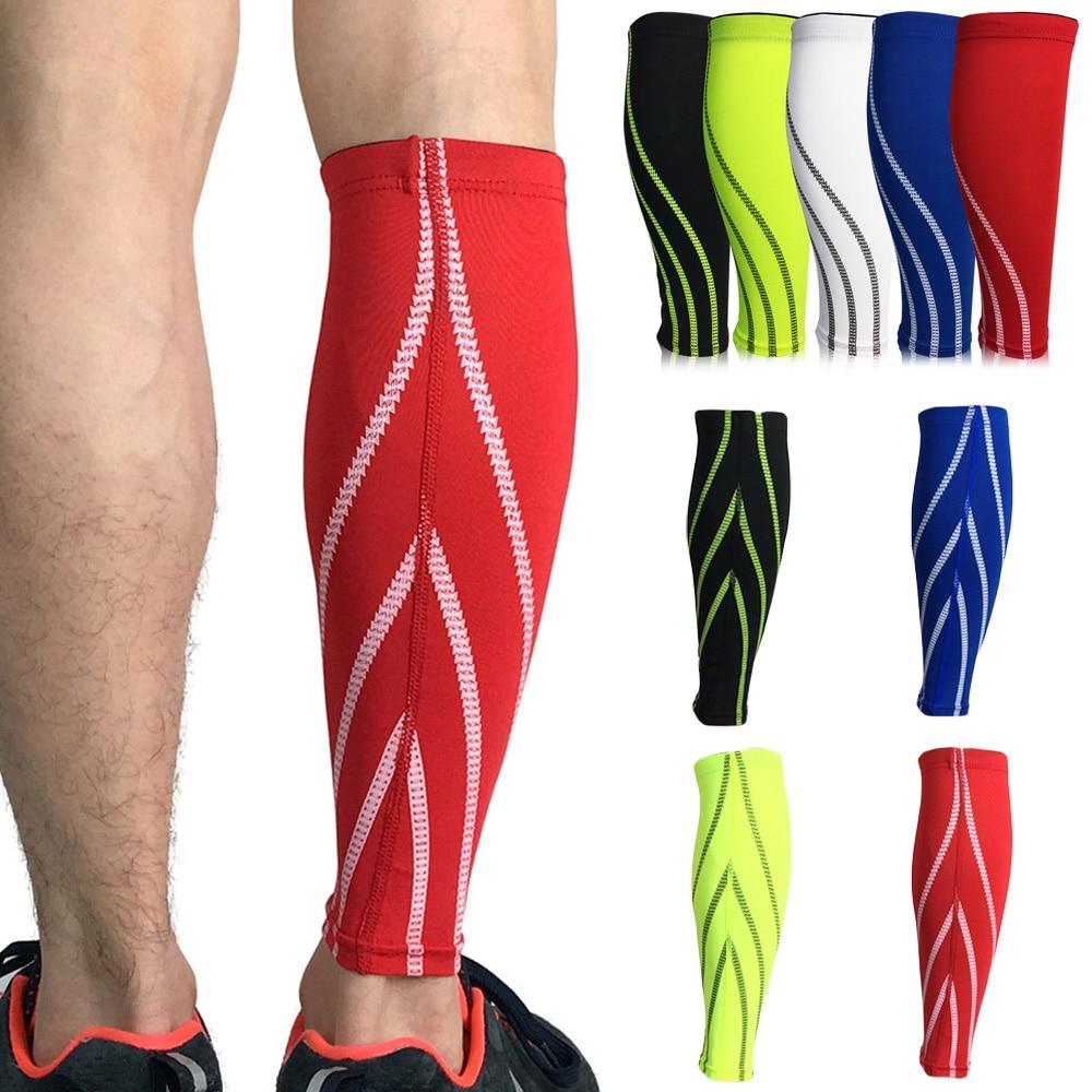 Sports Calf Leg Compression Brace Guard Elastic Leg Sleeve Support Football