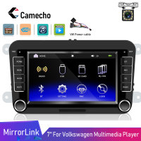 Camecho 2din Car Multimedia Player 7 HD Android ISO Mirrorlink Autoradio Bluetooth USB Video For VW Golf Skoda Seat Car Radio
