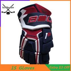 Top Livello 1 di Hockey su Ghiaccio a Quattro Colori 13 14 di Protezione Professionale Hockey Guanto di Trasporto Libero