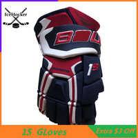 Top level 1S Eis Hockey Handschuhe Vier Farben 13 14 Professional Schutz Hockey Handschuh Kostenloser Versand