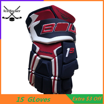"""Top Level 1S Ice Hockey Gloves Four Colors 13"""" 14"""" Professional Protective Hockey Glove Free Shipping"""