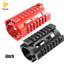 "Totrait Hunting M4 AR-15 4"" Inch Free Float Keymod Handguard Picatinny Quad Rail for Mount w/Front Cap Tactical Rifle Scope Moun(China)"