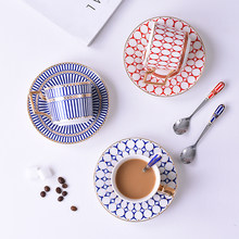Juego de tazas de café de porcelana, juego de tazas de té y platillo de porcelana, café británico, té de la tarde, regalo de cumpleaños