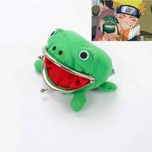 Naruto Frog Coin Purse Cosplay Props Frog Wallet Anime Cartoon Manga Flannel Pueses