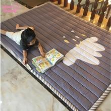 תינוק מחצלת לשחק מחצלת ילדי שטיח תינוק למשחק 140X195X2.5CM מכונת רחיץ שטיחים לסלון נגד החלקה שינה 55X76 אינץ