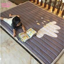 Bebek Mat oyun matı çocuk halı bebek oyun arkadaşı 140X195X2.5CM makine yıkanabilir kilim oturma odası için Anti skid yatak odası 55X76 inç