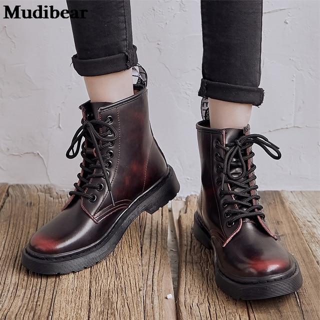 Фото женские ботинки из мягкой кожи mudibear белые мотоциклетные цена