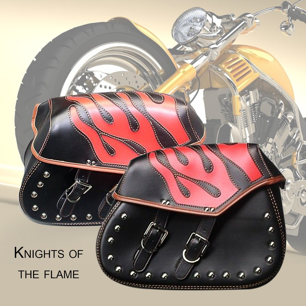 Сумка для мотоциклетного шлема мотоцикл седельная сумка боковая езда дорожная сумка непромокаемая пламя шаблон сумка водителя хвост висяч...