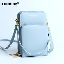 EXCELSIOR PU Women's Bag Quality Small Crossbody Bags Vertical Version Phone Bag INS Fashion Small Flap Wallet Bolsos Mujer