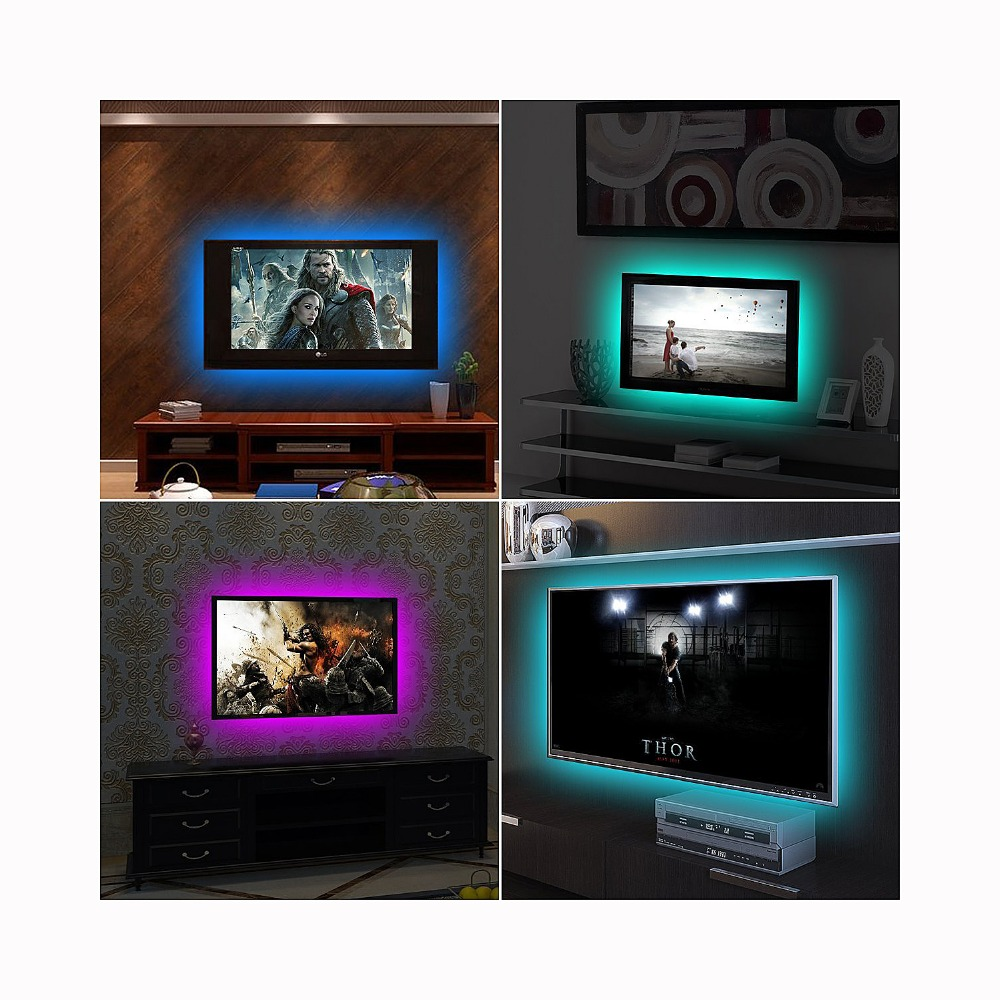 5V 2M Nonwaterproof RGB 5050SMD Led Strip Can Change Color For TV Background Lighting With USB 5V 2M Nonwaterproof RGB 5050SMD Led Strip Can Change Color For TV Background Lighting With USB IR Controller