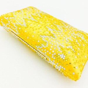 Image 5 - بوتيك دي FGG أنيقة بلورات صفراء السيدات حقيبة نسائية صغيرة مساء حفل زفاف المحافظ وحقائب اليد حقيبة الماس الزفاف