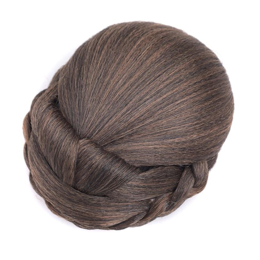 Женские булочки для волос Gres, синтетические волосы для женщин на клипсе, волосы блонд с высокой температурой