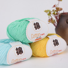 50g/lot Pure Cotton Yarn Wholesale Combed Milk Cotton Baby Child Wool Organic Cotton Thread Hand Knitted Sweater Medium Thick 4pair lot combed cotton girl
