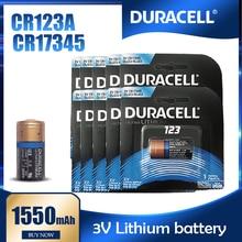 Duracell – batterie Lithium 3V 16340 mAh pour appareil photo, 10 pièces, CR123 CR 123A CR17345 1550
