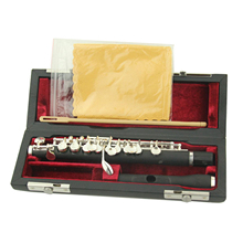 Silver Plated Key of C Piccolo Flute Instruments with Wood Case Screwdriver