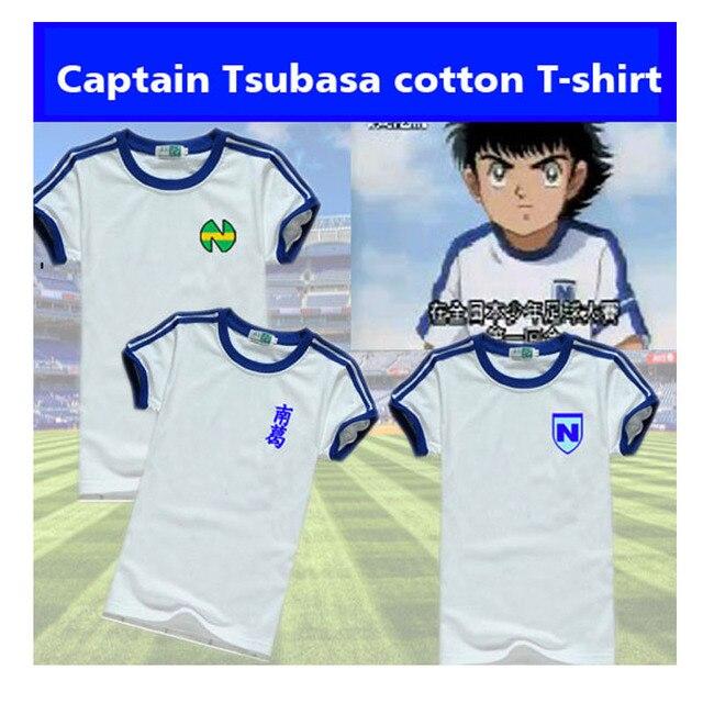 남자 여자 축구 t 셔츠 캡틴 츠바사 츠바사 오조라 코스프레 유니폼 패션 일본 코튼 어린이 청소년 축구 t 셔츠