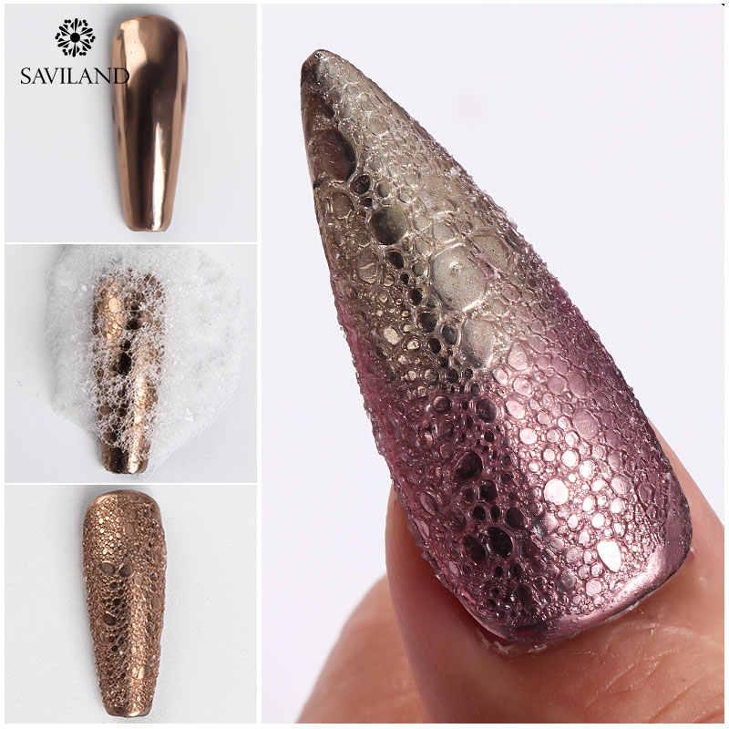 Saviland Holografische Glitter Poeder Nagels Laser Bubble Nagels Spiegel Polijsten Dip Shimmer Gel Polish Glitter Nail Art