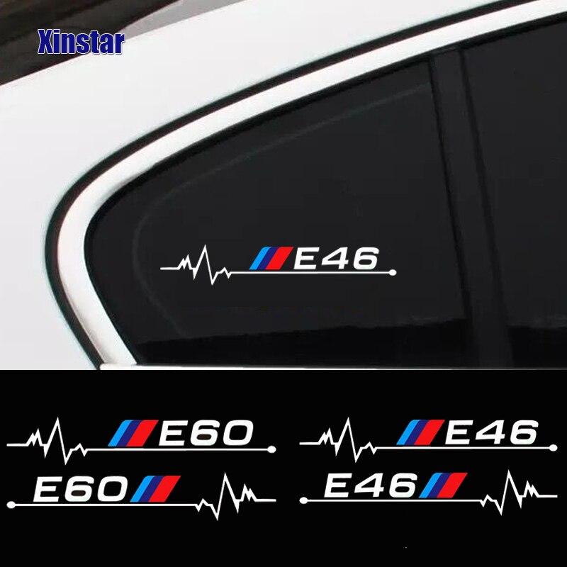 2pcs car windows sticker for bmw E30 E34 E36 E39 E46 E60 E61E87 E90 E83 F10 F20 F21 F30 F35 E84(China)