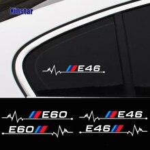 2 uds coche pegatina de ventana para bmw E30 E34 E36 E39 E46 E60 E61E87 E90 E83 F10 F20 F21 F30 F35 E84