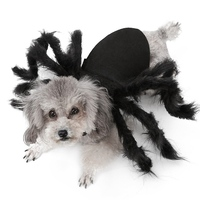 Halloween Cat Costume Carnival Pet Spider Clothes Festival Decoration For Dogs And Cats Simulation Plush Spider Costume