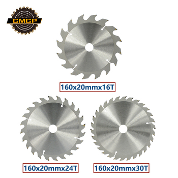 цена на CMCP 160mm TCT Circular Saw Blade Disc For Wood Cutting 16T 24T 30T Carbide Cutting Disc Woodworking Saw Blade