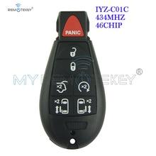 Remtekey New Type Keyless Entry Remote Key Fob Fobik 6 Button With Panic for Chrysler Dodge Jeep IYZ-C01C Remote Car Key