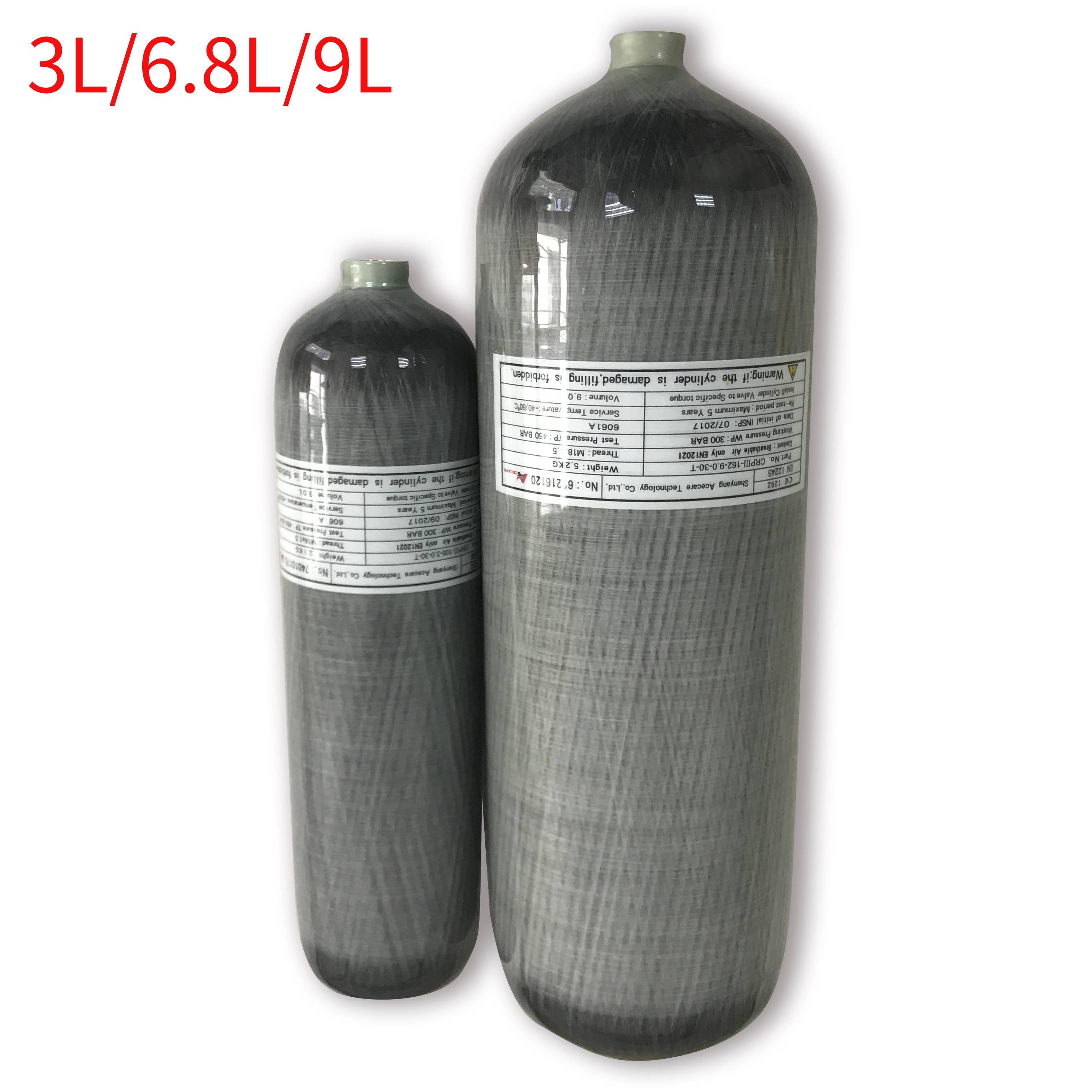 AC103301 4500 Psi Pcp Tank Compressed Air Rifle 3L/6.8L/9L High Pressure Cylinder For Paintball Compressed Air Gun 5 5 Condor