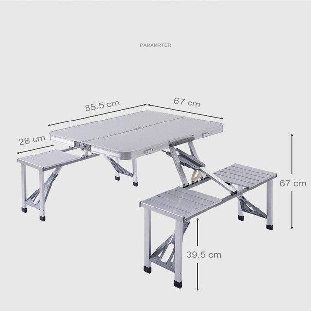 Aluminum Camping Table Set 5