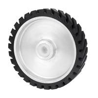 250*50mm Serrated Belt Grinder Rubber Contact Wheel 47mm Dia for Abrasive Sanding Belt Polishing Grinding Sanding Rubber Wheels