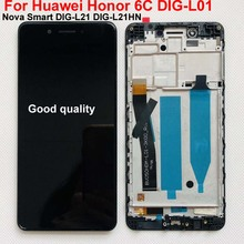 tested IPS Original LCD Display For Huawei Honor 6C DIG L01 / Nova Smart DIG L21 DIG L21HN Touch Screen Digitizer Assembly+Frame