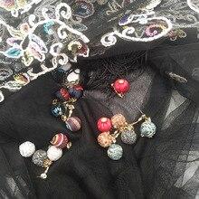 цены 2019 Simple temperament winter wool woven earrings Korean fashion thread metal geometric round earrings women jewelry