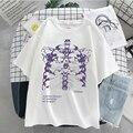 Футболка женская оверсайз в стиле Харадзюку, Повседневная рубашка в стиле панк/готика/хип-хоп, уличная одежда с коротким рукавом, на лето