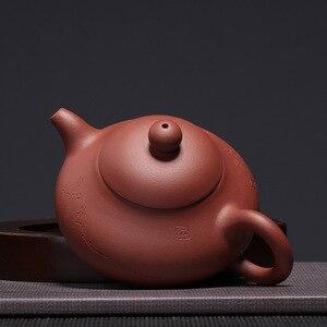 Image 4 - 宜興zish紫色の粘土ティーティーポット石スクープポットのzisha中国メーカーフルハンドメイド箸置きスーツドリンクdarktea