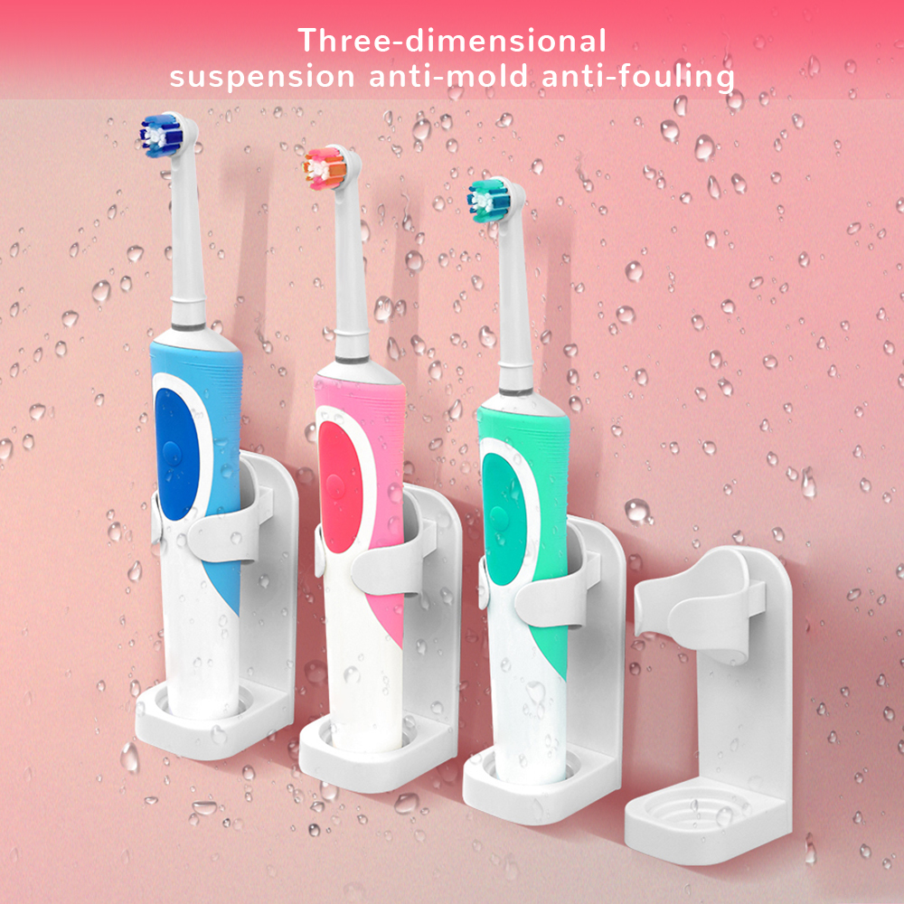 1/2/3PCS Universal Electric Toothbrush Holder Creative Traceless Stand Rack Toothbrush Organizer Wall-Mounted Bathroom Accessory image
