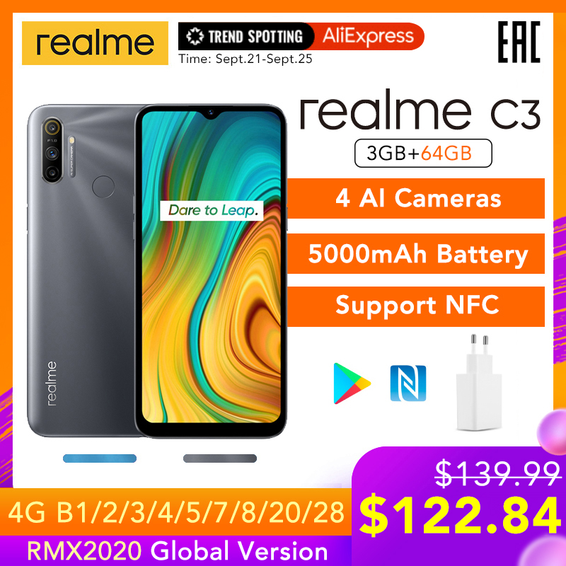 Realme 64GB 3GB WCDMA/GSM/LTE NFC Adaptive Fast Charge Bluetooth 5.0 Octa Core Fingerprint Recognition