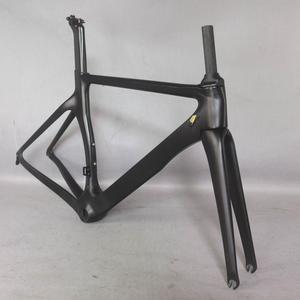 Image 1 - 2019 new Aero design Ultralight  carbon road bike frame carbon fibre racing bicycle frame700c  accept painting