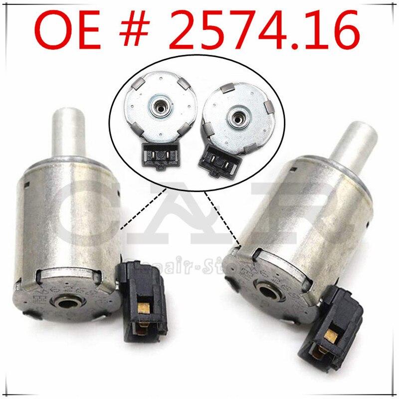 2PCS For Renault Gearbox for Fiat Citroen Peugeot AL4/DP0 EPC Solenoid Solenoids 2574.16 257416 2574-16 7701208174 0000257416
