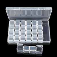 Plastic Storage Box Suitable For Store Earrings Necklaces Diamond Beads Home Convenient Storage
